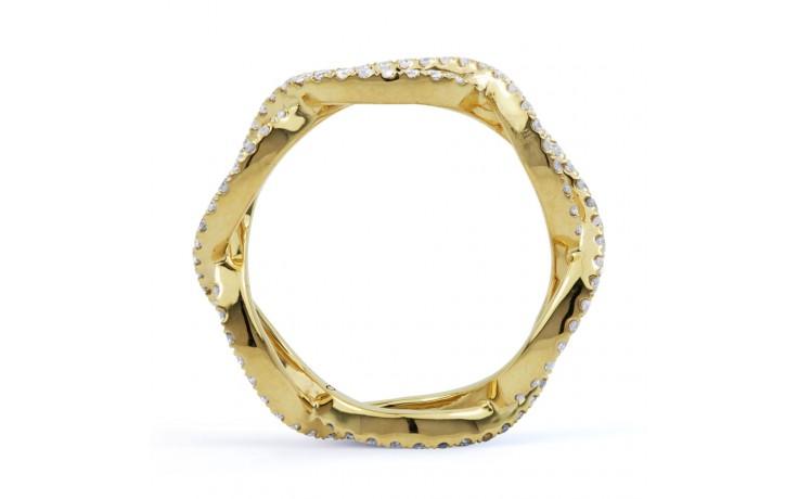 18ct Yellow Gold Diamond Designer Full Eternity Ring 0.55ct 6mm  product image 3