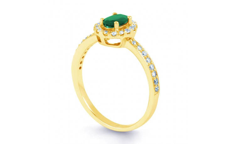 Allure Emerald Gold Ring  product image 2