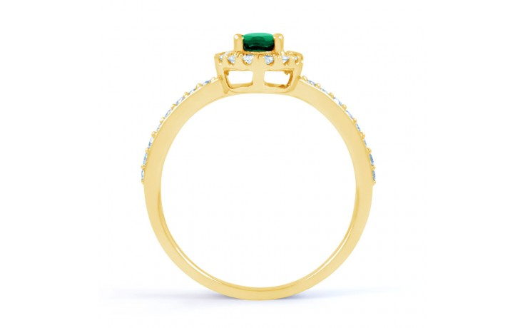 Allure Emerald Gold Ring  product image 3