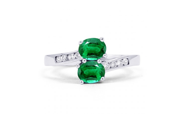 Emerald Crossover Ring product image 1