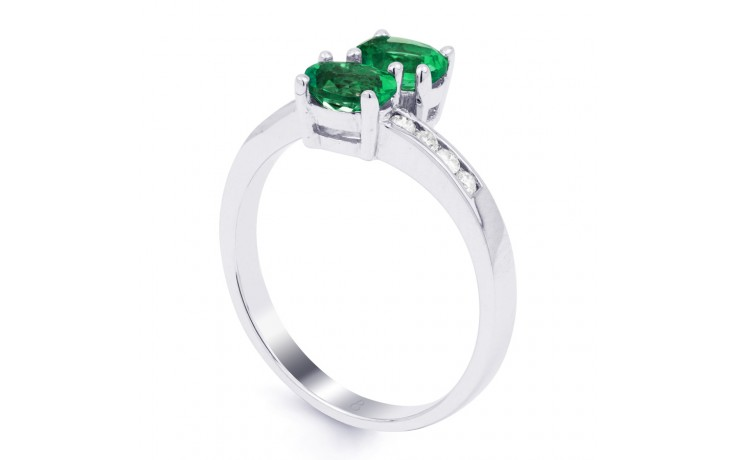 Emerald Crossover Ring product image 2