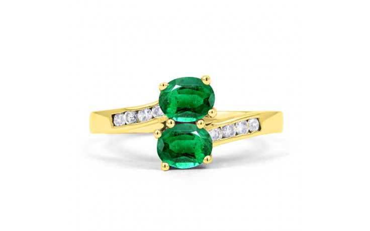 Emerald Crossover Gold Ring product image 1