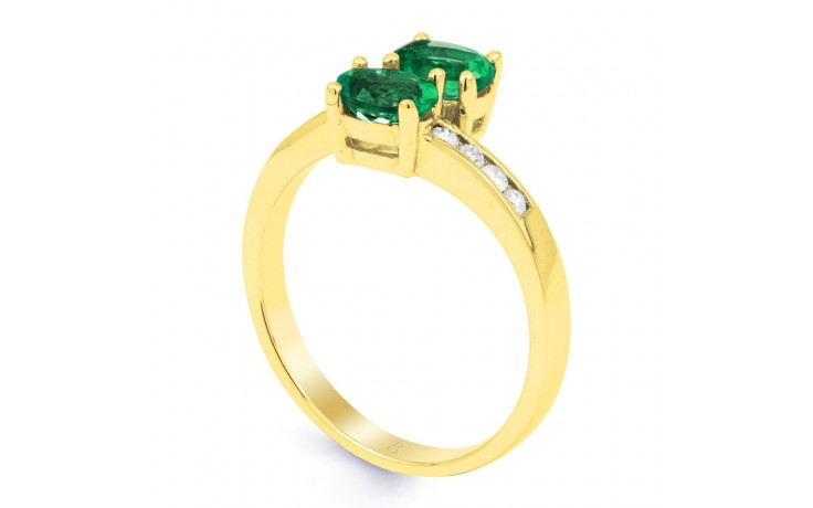 Emerald Crossover Gold Ring product image 2