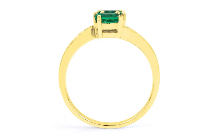 Emerald Crossover Gold Ring product image 3