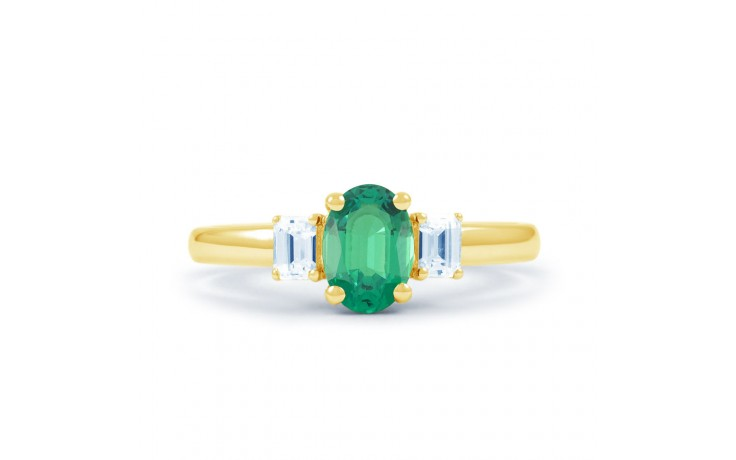 Emerald Oval Gold Ring  product image 1