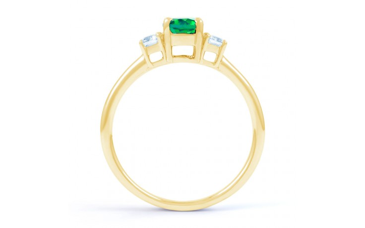 Emerald Oval Gold Ring  product image 3