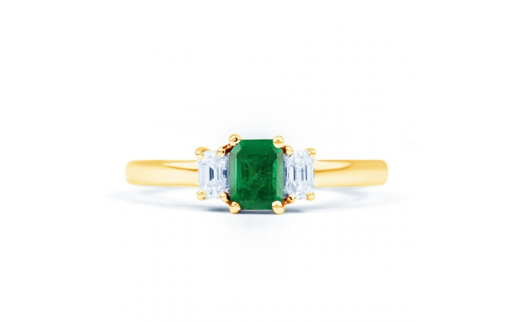 Emerald Baguette Gold Ring product image 1