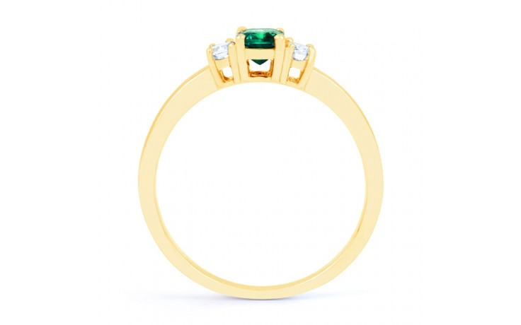 Emerald Baguette Gold Ring product image 3