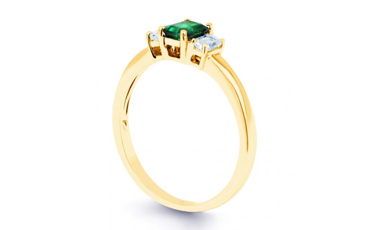 Emerald Baguette Gold Ring product image 2