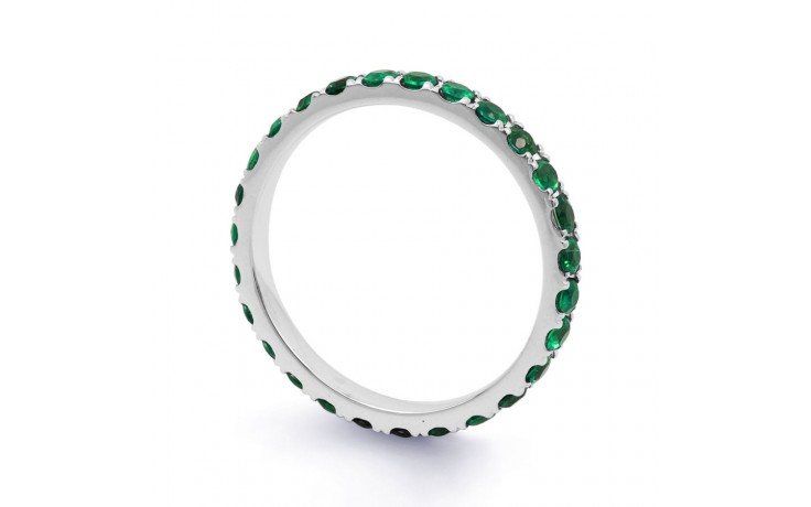 18ct White Gold Emerald Eternity Ring product image 2