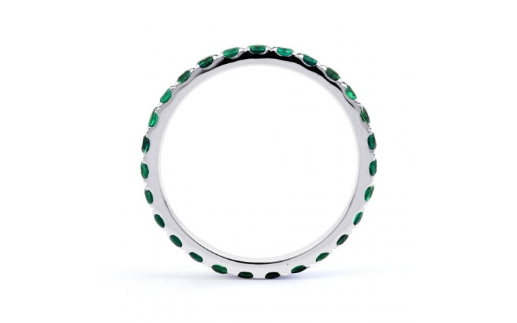 18ct White Gold Emerald Eternity Ring product image 3