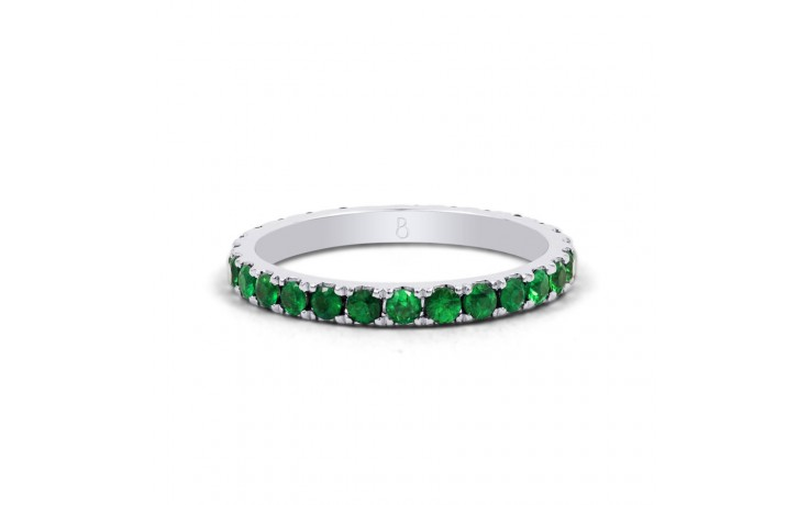 18ct White Gold Emerald Eternity Ring product image 1