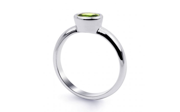 Peridot Birthstone White Gold Ring product image 2