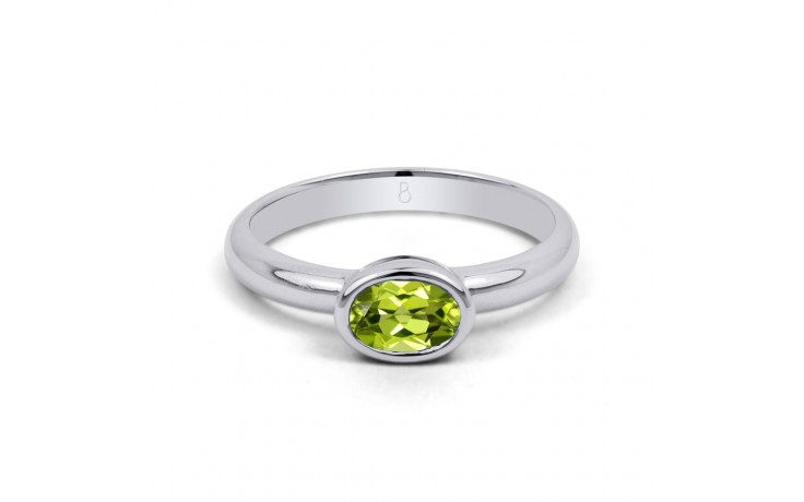 Peridot Birthstone White Gold Ring product image 1