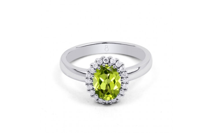 Peridot & Diamond Halo Ring product image 1