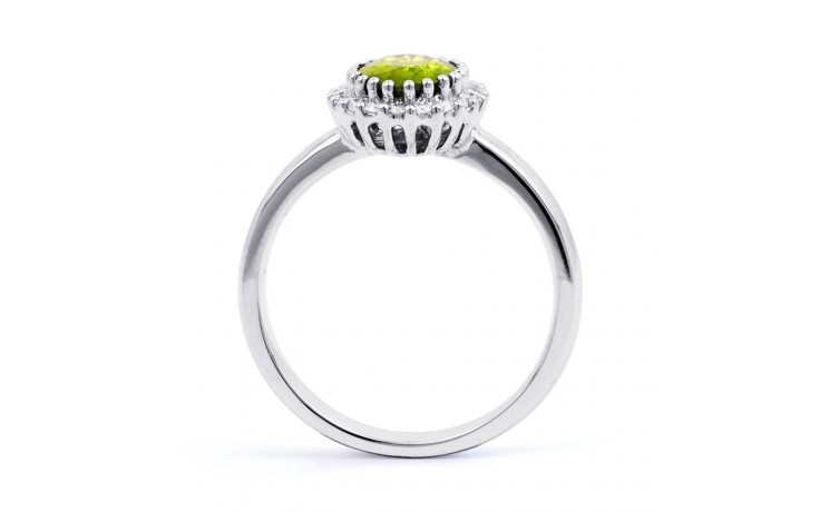 Peridot & Diamond Halo Ring product image 3