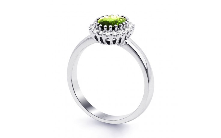 Peridot & Diamond Halo Ring product image 2