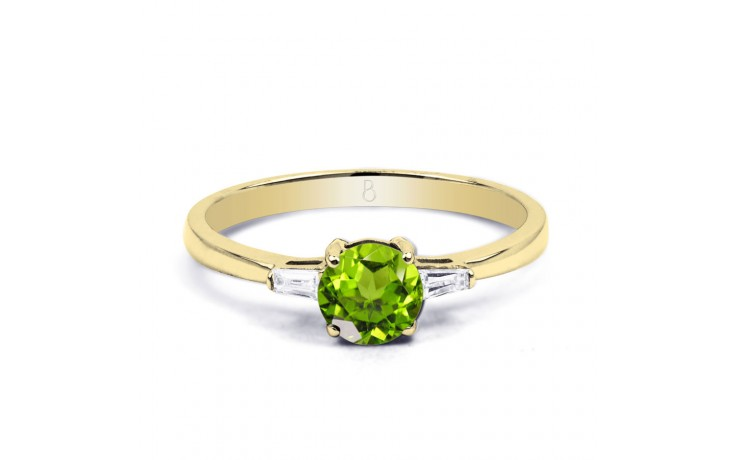 Peridot & Diamond Yellow Gold Ring product image 1