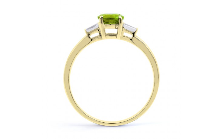 Peridot & Diamond Yellow Gold Ring product image 3