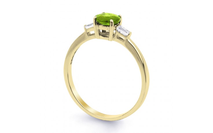Peridot & Diamond Yellow Gold Ring product image 2