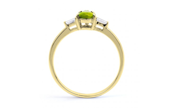 Peridot & Diamond Pear Gold Ring product image 3