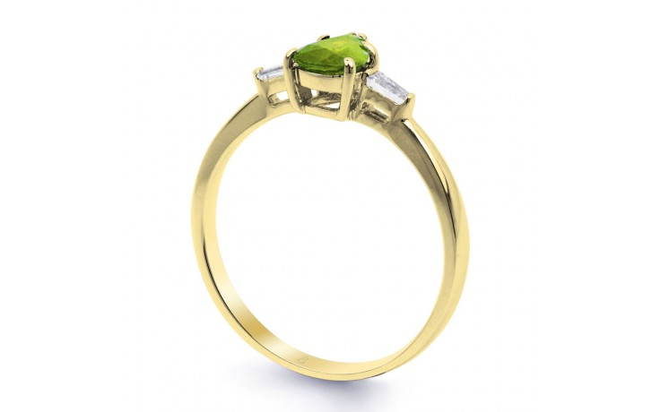 Peridot & Diamond Pear Gold Ring product image 2