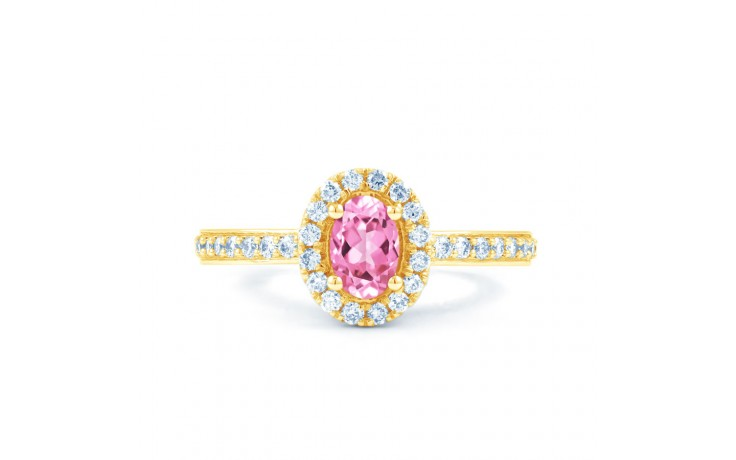 Allure Pink Sapphire Gold Ring product image 1