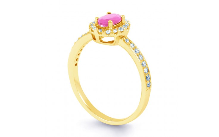 Allure Pink Sapphire Gold Ring product image 2