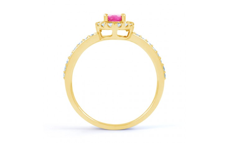 Allure Pink Sapphire Gold Ring product image 3