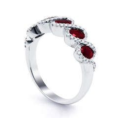 Regal Ruby Modern Eternity Band image 1