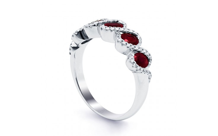 Regal Ruby Modern Eternity Band product image 2
