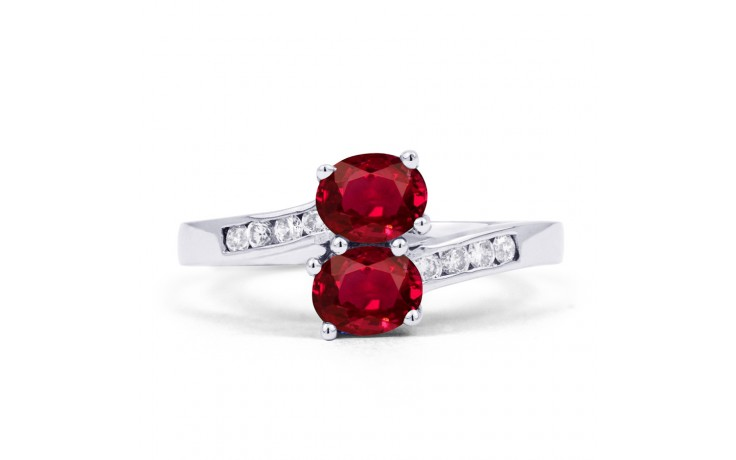 Ruby Crossover Ring  product image 1