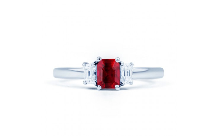 Octagon Ruby Ring product image 1