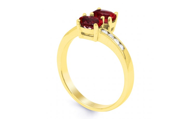 Ruby Crossover Gold Ring  product image 2