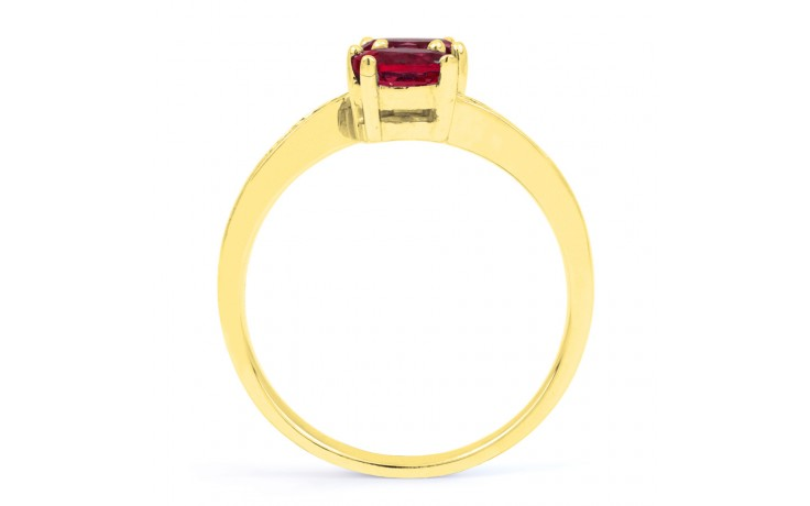 Ruby Crossover Gold Ring  product image 3