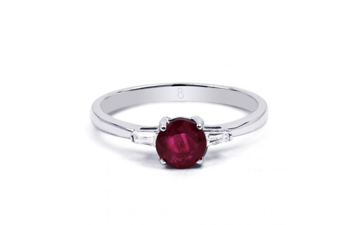 Round Ruby Ring product image 1