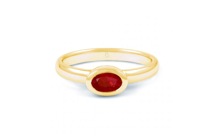Ruby Birthstone Gold Ring  product image 1