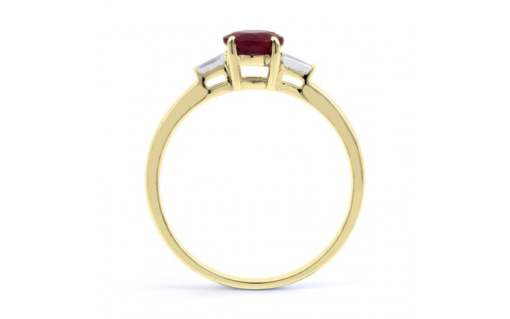 Round Ruby Gold Ring product image 3