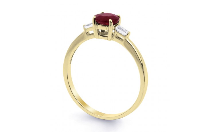 Round Ruby Gold Ring product image 2