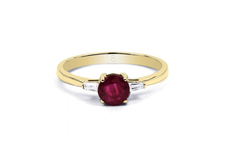 Round Ruby Gold Ring product image 1