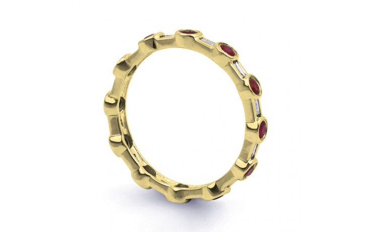 18ct Yellow Gold Ruby & Diamond Full Eternity Ring Band 0.42ct 3mm product image 2