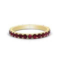 18ct Yellow Gold Ruby Gemstone Eternity Band 2.2mm image 0