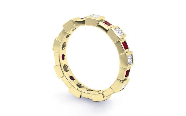 18ct Yellow Gold Ruby & Diamond Designer Full Eternity Ring Band 0.75ct 5mm product image 2