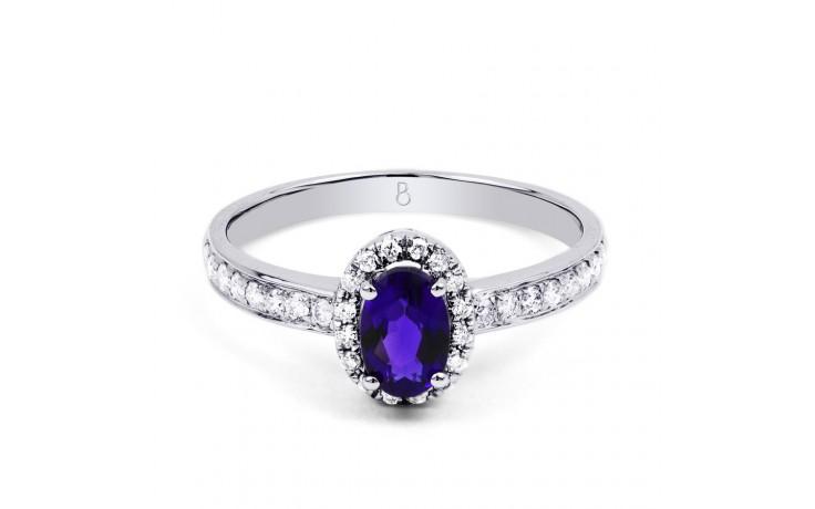 Tanzanite Halo Ring  product image 1