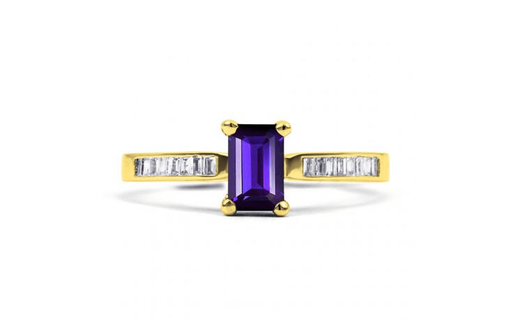 Tanzanite Octagon Gold Ring product image 1
