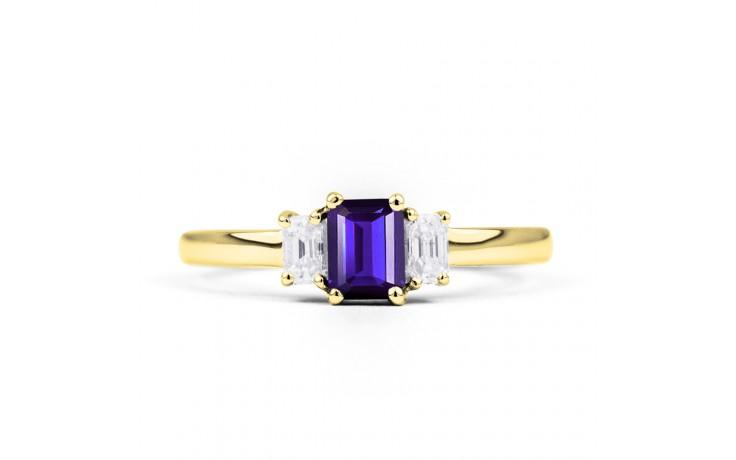 Tanzanite Baguette Gold Ring  product image 1