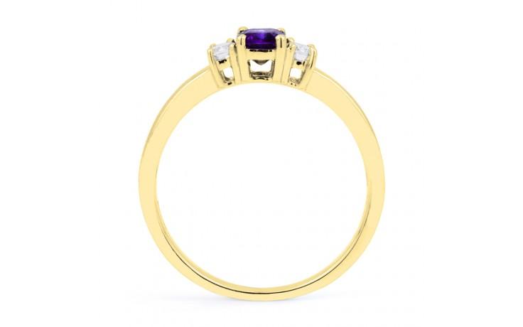 Tanzanite Baguette Gold Ring  product image 3