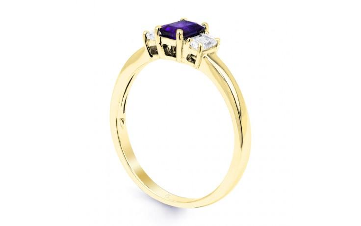 Tanzanite Baguette Gold Ring  product image 2