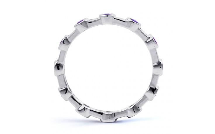 Tanzanite & Diamond Full Eternity Ring Band 0.42ct 3mm product image 3
