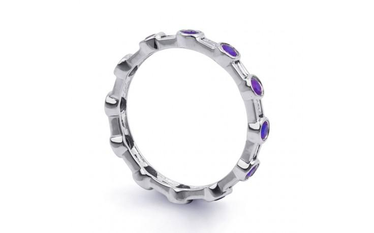 Tanzanite & Diamond Full Eternity Ring Band 0.42ct 3mm product image 2